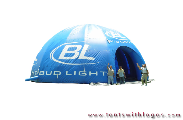 Inflatable Dome Tent - BudLight