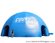 Inflatable Dome Tent - CourtTV