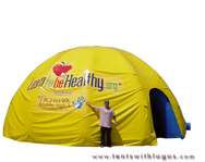 Inflatable Dome Tent - Learn to Be Healthy