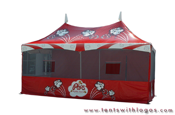10 x 20 Double High Peak Tent - Kettle Corn