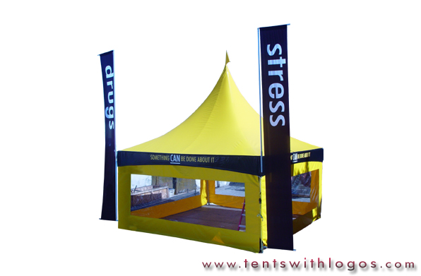 20 x 20 High Peak Tent - Church of Scientology