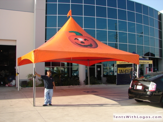 20 x 20 High Peak Tent - Halloween - Pumpkin & 20 x 20 High Peak Tent - Halloween - Pumpkin | www.TentsWithLogos.com