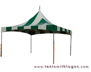 20 x 20 High Peak Tent - Green and White