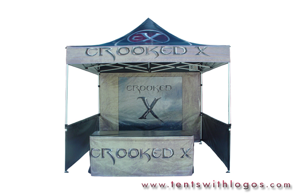10 x 10 Pop Up Tent with Table Cover- Crooked X