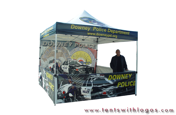 10 x 10 Pop Up Tent - Downey Police Department