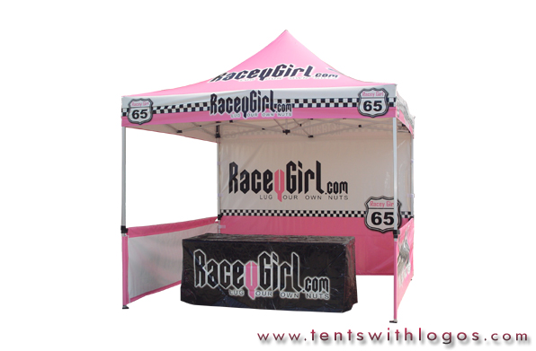 10 x 10 Pop Up Tent - Racey Girl