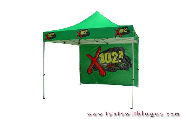 10 x 10 Pop Up Tent | X 102.3 | www.TentsWithLogos.com
