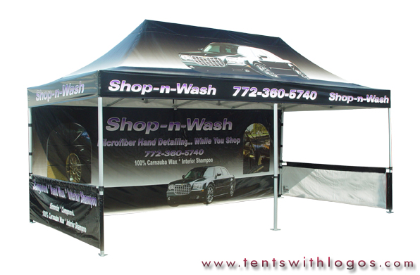 10 x 20 Pop Up Tent - Shop-n-Wash