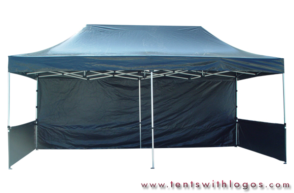 10 x 20 Pop Up Tent - Black
