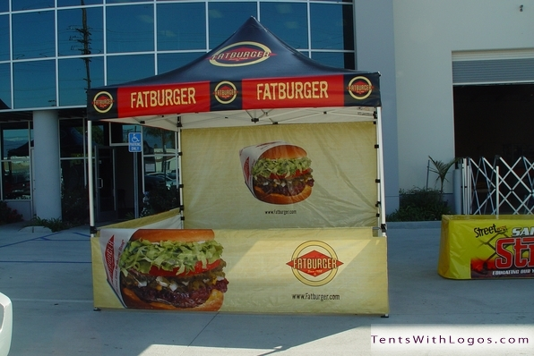 10 x 10 Pop Up Tent - Fatburger
