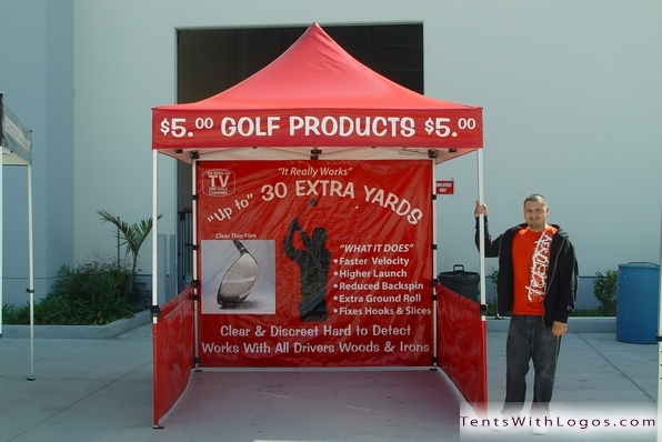10 x 10 Pop Up Tent - Golf Products