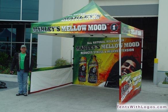 10 x 10 Pop Up Tent - Marley's Mellow Mood