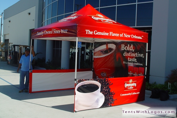 10 x 10 Pop Up Tent - Community Coffee