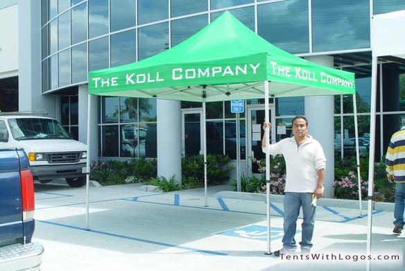 10 x 10 Pop Up Tent - The Koll Company
