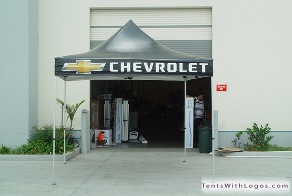 10 x 10 Pop Up Tent - Chevrolet