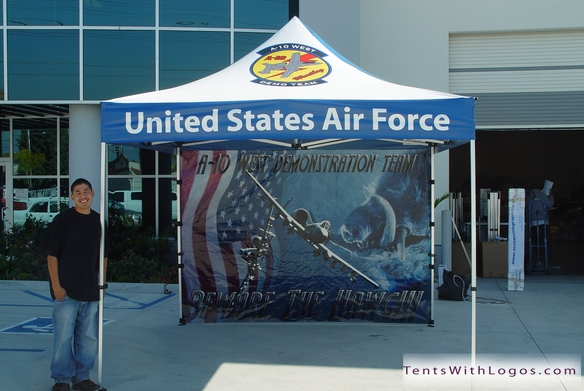 10 x 10 Pop Up Tent - United States Air Force