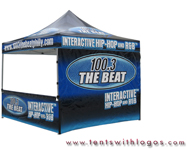 10 x 10 Pop Up Tent - 100.3 The Beat