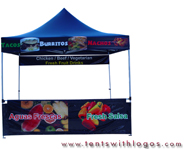 10 x 10 Pop Up Tent - Aguas Frescas