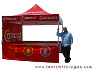 10 x 10 Pop Up Tent - Comcast