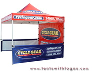 10 x 10 Pop Up Tent - Cycle Gear