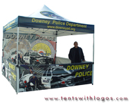 10 x 10 Pop Up Tent - Downey Police