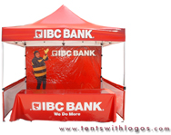 10 x 10 Pop Up Tent - IBC Bank