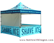 10 x 10 Pop Up Tent - Shave Ice