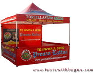 10 x 10 Pop Up Tent - Tortillas Los Arcos