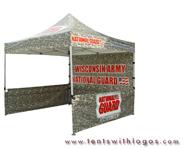 10 x 10 Pop Up Tent - Wisconsin Army National Guard