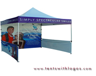 10 x 15 Pop Up Tent - Burleson Orthodontics