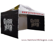 10 x 15 Pop Up Tent - Guitar Hero