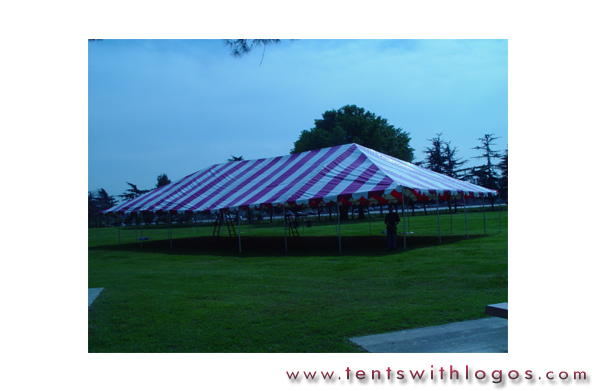 40 x 80 Standard Tent - Red & White